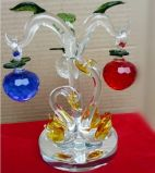 Christmas Ornament and Decoration Colorful Crystal Apple Tree