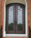 Security Luxury Wrougth Iron Door Double Glazed Designs
