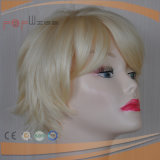 Full Machine Made Blond Heat Synthetic Fiber Short Women Wig