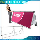 Quality Portable Aluminum Double Side a Frame Banner Stand