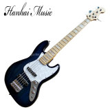 Hanhai Music / Dark Blue Electric Bass Guitar with 5 Strings