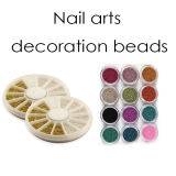 Silver & Golden Nail Art Color Mini Pearls Beads