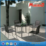 Outdoor Dining Set Stainless Steel Dining Table and Chair Sets