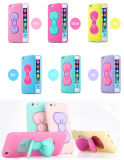 3D Soft Silicone Cute Lovely Butterfly Bow Stand Holder Case Cover for iPhone