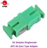 Sc Simplex Singlemode APC No Ears Type Fiber Optic Adapter