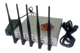 Portable 5CH Mobile Signal Jammer with Remote Control Desktop Cell Phone Jammer for Meeting Room / Office