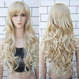 100% K K Hair Curly Wig Long Style