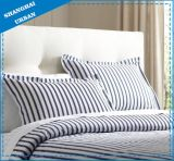 Indigo Stripe Printed Polyester Bed Sheet Set