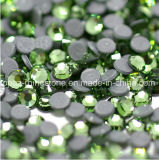 Chinese Peridot DMC Back Glue Hotfix Rhinestone for Wholesale (SS16 Peridot/3A grade)