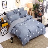 3 Pieces 4 Pieces Hot Selling Printed Microfiber Quilt Cover