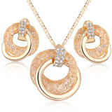 African Rhinestone Crystal Women Alloy New Jewelry Necklace Set