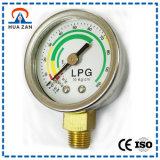 """1.5"""" LPG Gas, Chrome-Plating or Stainless Steel Bottom Mount 10kg LPG Pressure Gauge"""