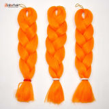 100% Kanekalon Jumbo Braid Synthetic Hair Orange Color Extension Lbh110