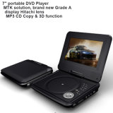 Portable 7 Inch DVD Player with USB TV Game