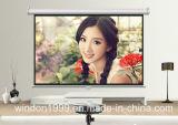 Cheap Price Manual Pull Down Projector Screen Made in China