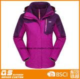 Women′s 3 in 1 Fashion Waterproof Warm Sport Jacket