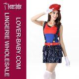 Adult Girls Halloween Mario and Luigi Costume (L15334-1)