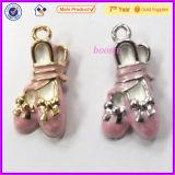 Factory Sale Metal Enamel Ballet Shoes Charm for Girls