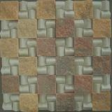 Natural Stone Square Marble Mosaic Floor Tile for Bathroom