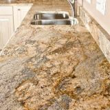 Polished Yellow River Granite Slab for Countertop/Table/Vanity Top/Work Top