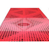 Red Color 1200*2400mm Aluminum Perforated Cladding Panels