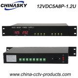 LED Display CCTV Rack Mount Power Supply (12VDC5A8P-1.2U)