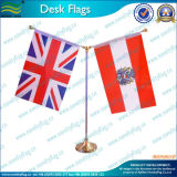 Table Flag, Double Desk Flag, Golden Stand (T-NF09M05004)