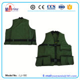 Green Color Multiple Function Professional Fishing or Hunting Life Jacket