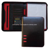 Australian A4 Black Leather Compendium Wallet with Notepad