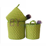 Creative Color Mixing Weaving Three-Piece Hotel Clothes Towel Basket