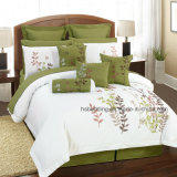 Spring/Summer Flowers Quilt Set Embroidery Pattern Bedding Set