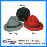 100% Wool Felt Mountain Apline Hat with Cotton Rope