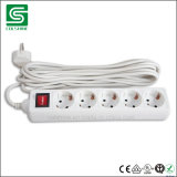5 Way European PP Power Strip Extension Socket 16A 250V