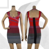 Gradient Mother Style Bandage Dress
