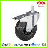 Black Rubber Industrial Caster (L101-31D075X25S)