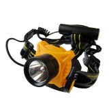 Helmet Style Deep Reflector 3W LED Headlamp with 3AA Back Pack Battery Case