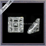 Brilliant Concave Square Shape Zirconia Beads for Jewelry