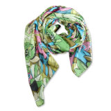 Ladies Fashion Polyester Artificial Silk Printed Scarf