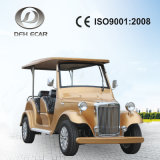 Golden Color Golf Buggy Six Seats