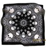 OEM Produce Customized Skull Printed Biker Sports Cotton Head Scarf