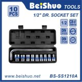 10 PCS 1/2′′dr. L-Type Wrench Socket Set with Plastic Box