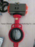Ductile Iron Wafer Butterfly Valve with Pneumatic Actuator