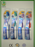 Double Blister with Shiny Card with Cap Adult Toothbrush