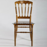 Wedding Commercial Furniture Gold Acrylic Resin Napoleon Chair