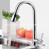 Modern Chrome Pull out Spring Kitchen Faucet