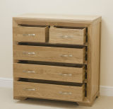 Solid Oak Wooden Drawer Chest Cabinet E1 Standard
