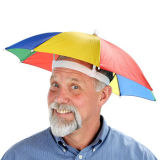 Promotional Head Umbrella, Umbrella Hat, Cap Umbrella