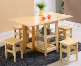 Solid Wood Folding Table and Chairs Set with Cheap Price