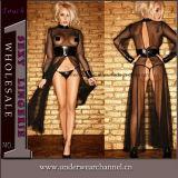 Wholesale Luxurious Lace Transparent Maxi Dress Sexy Lady Lingerie (TGP861)