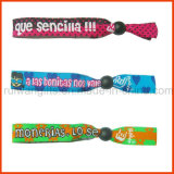 High Quality Polyester Fabric Adjustable Wristbands (PBR020)